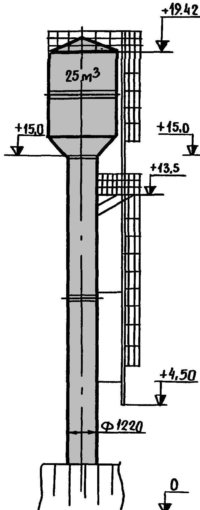 Водонапорная башня бр 25у